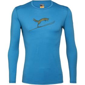 Icebreaker 200 Oasis Fox Jump Koszulka z długim rękawem Mężczyźni, polar
